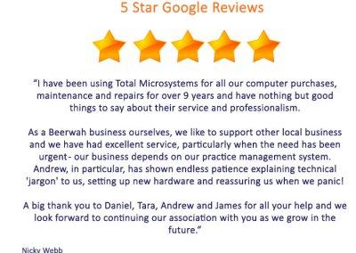 Google Reviews - Nicky Webb